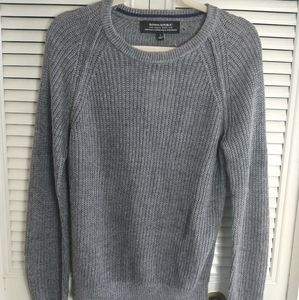 Banana Republic gray Italian linen sweater small